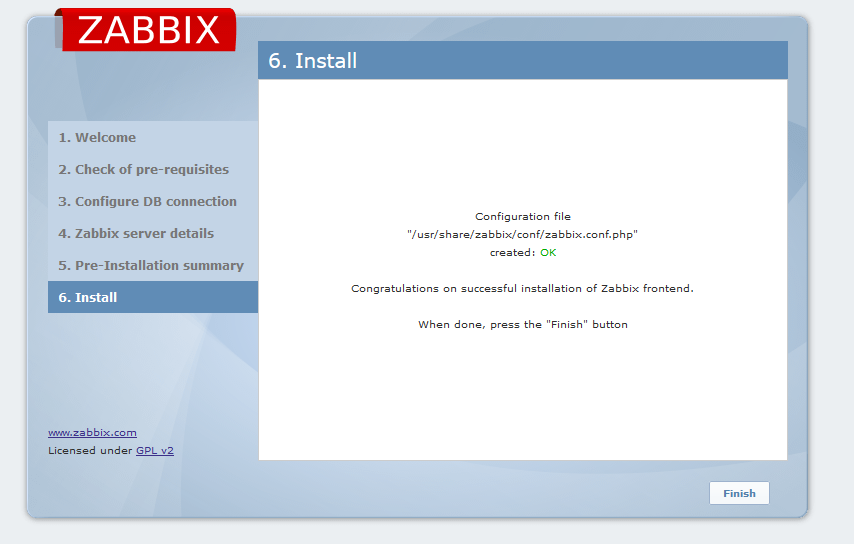 finish-zabbix