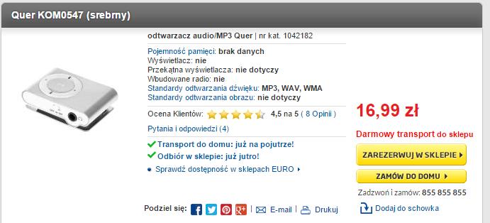 RTV EURO AGD MP3