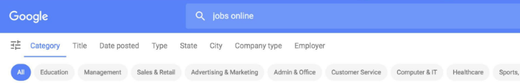 Google for Jobs – meta dane