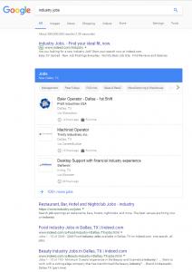 JobPosting w wyszukiwarce