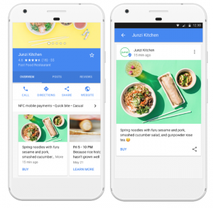 Google Post on smartphone