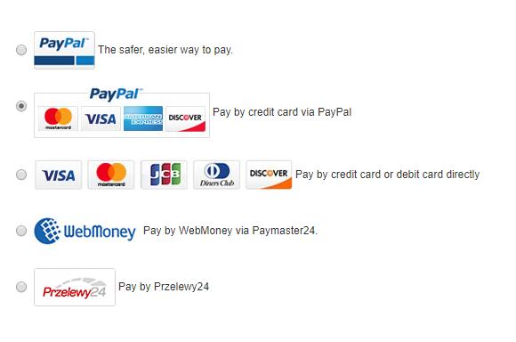 Metody płatności GearBest