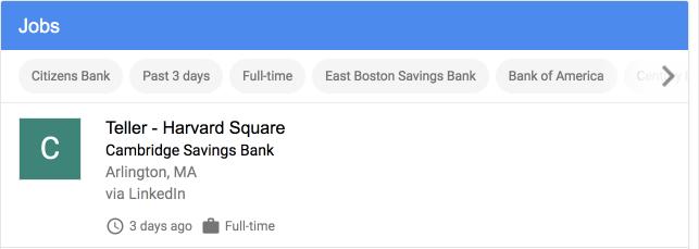 Job Posting Google