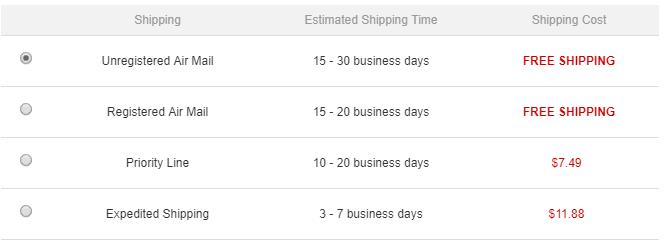 GearBest – Wysyłka Priority Line naczym topolega
