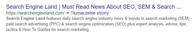 Dłuższy opis meta description w wyszukiwarce