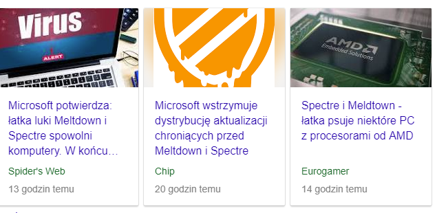 Intel Ataki Meltdown, Spectre. Łatanie dziur: Linux, Windows