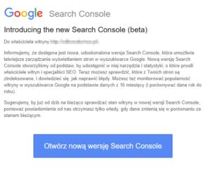 Nowa wersja Search Console