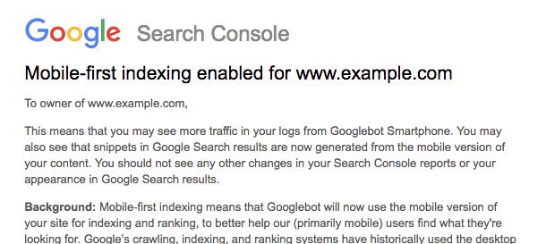 Mobile First Index rozpoczęte