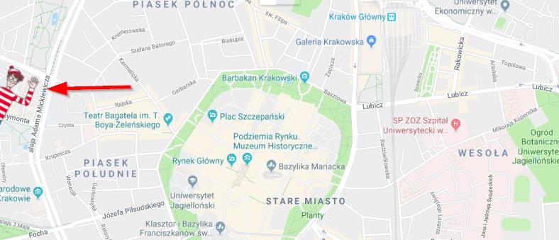 Gdzie jest Wally? – Gra wGoogle Maps