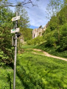 Wejście do Dolny Bolechowickiej Żółty Szlak