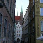 Widok uliczki w Gdańsku