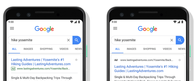 Zmiana wyglądu wyników wyszukiwania wGoogle